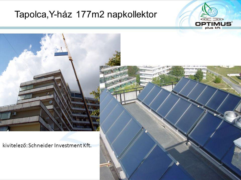 Tapolca,Y-ház 177m2 napkollektor kivitelező: Schneider Investment Kft. Solarpark, A-6306 Söll/Tirol, Fon: +43.(0)5333.2010, Fax: +43.(0)5333.201.100,