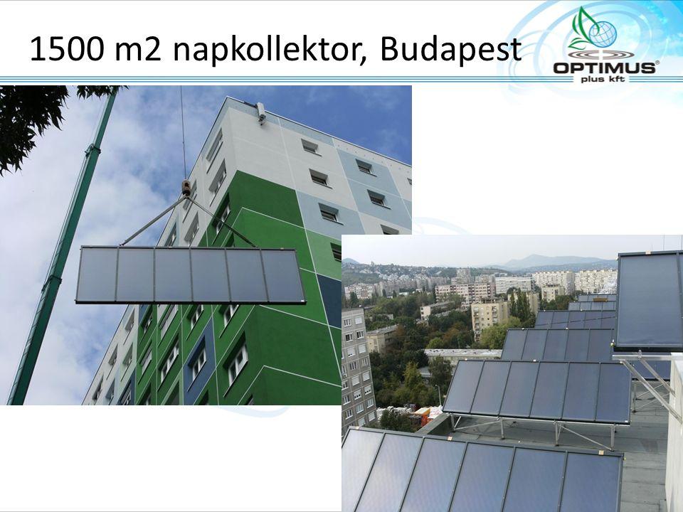 1500 m2 napkollektor, Budapest www.tisun.com