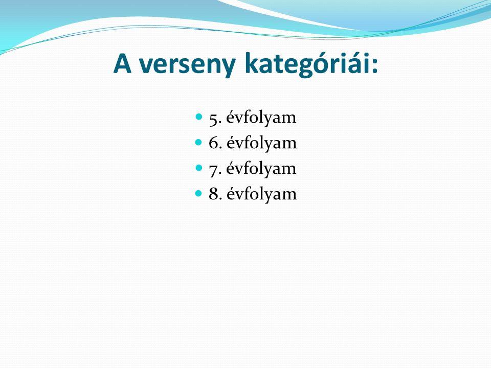 A jelentkezés és a részvétel feltételei: A versenyen az ország valamennyi oktatási intézményének mindazon 5., 6., 7.