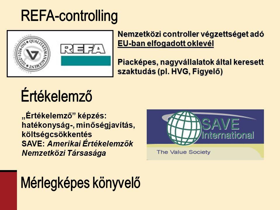 """Nemzetközi controller végzettséget adó EU-ban elfogadott oklevél Piacképes, nagyvállalatok által keresett szaktudás (pl. HVG, Figyelő) """"Értékelemző"""" k"""