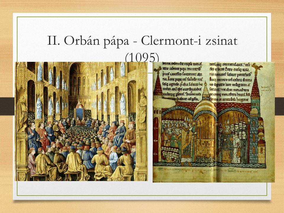 II. Orbán pápa - Clermont-i zsinat (1095)