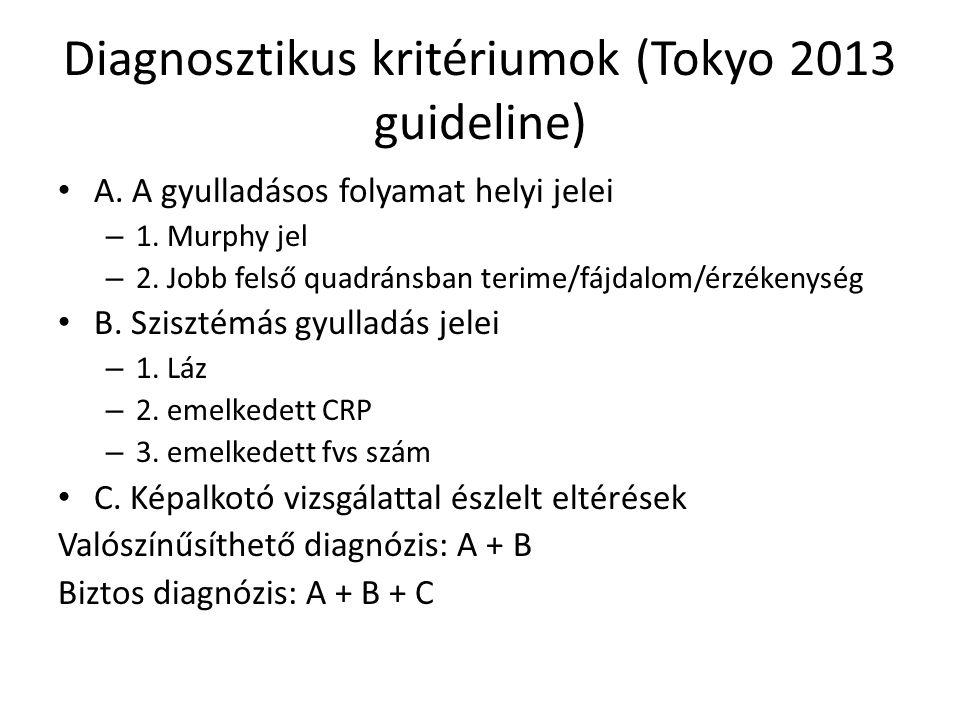 Diagnosztikus kritériumok (Tokyo 2013 guideline) A.