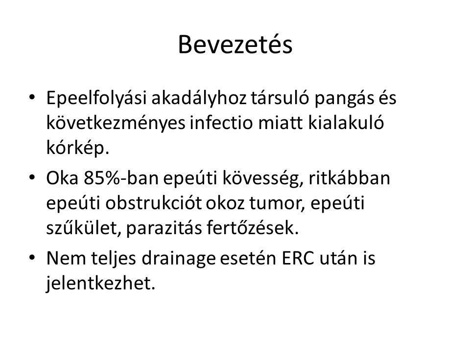 Bevezetés Epeelfolyási akadályhoz társuló pangás és következményes infectio miatt kialakuló kórkép.
