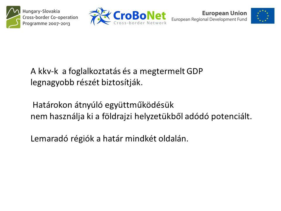 A kkv-k a foglalkoztatás és a megtermelt GDP legnagyobb részét biztosítják. Határokon átnyúló együttműködésük nem használja ki a földrajzi helyzetükbő