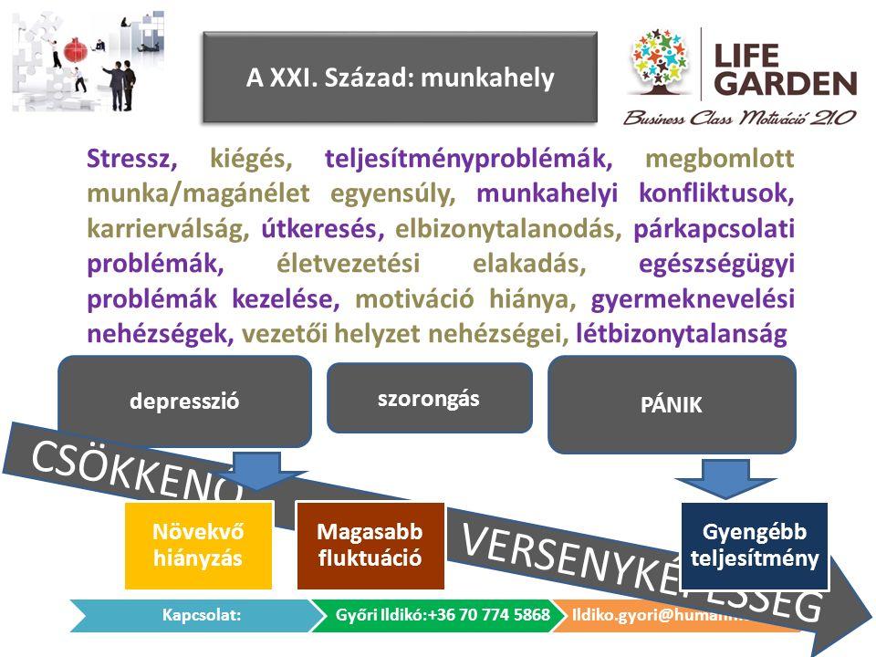 depresszió CSÖKKENŐ VERSENYKÉPESSÉG A XXI.