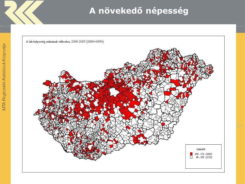 MTA Regionális Kutatások Központja MUT Konferencia, Siófok, 2009. okt. 12 A növekedő népesség