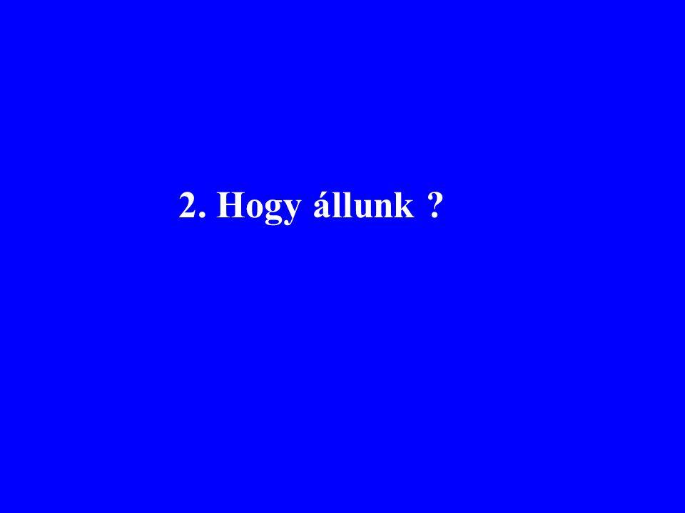 Referencia helyek száma kategóriánként és osztály-határonként Kiváló-jóJó-közepesÖsszes Tavak141132273 Folyók291251542 Tengerpartok 3862100 Összes470445915