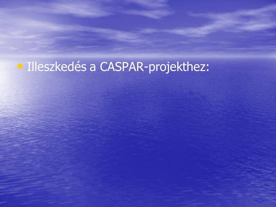 Illeszkedés a CASPAR-projekthez: