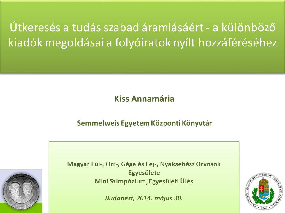 """Open Access: tudományos, illetve kutatási információkhoz és adatokhoz való nyílt hozzáférés """"By open access to [peer-reviewed research literature], we mean its free availability on the public internet, permitting any users to read, download, copy, distribute, print, search, or link to the full texts of these articles, crawl them for indexing, pass them as data to software, or use them for any other lawful purpose, without financial, legal, or technical barriers other than those inseparable from gaining access to the internet itself. (BOAI 2001) Information wants to be free"""" (Stewart Brand, 1987) 2/20"""
