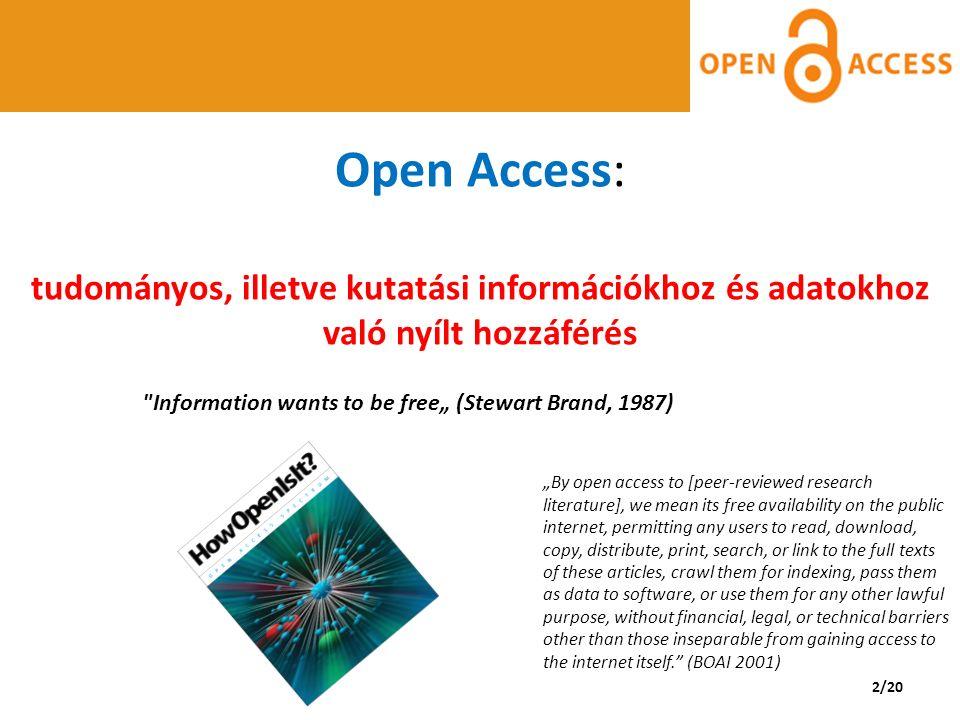 http://onlinelibrary.wiley.com Alapítás: 1807 2011 Open Access elindítása 2013 További üzletmodellek kidolgozása, OA folyóiratok növelése KOLLEKCIÓ: 2254 folyóiratból 1240-nél van lehetőség OA cikk publikálására 35 fully gold folyóirat (IF-es: 5 cím) Respirology Case Reports (2013-) http://onlinelibrary.wiley.com/journal/10.1002/%28I SSN%292051-3380 13/20