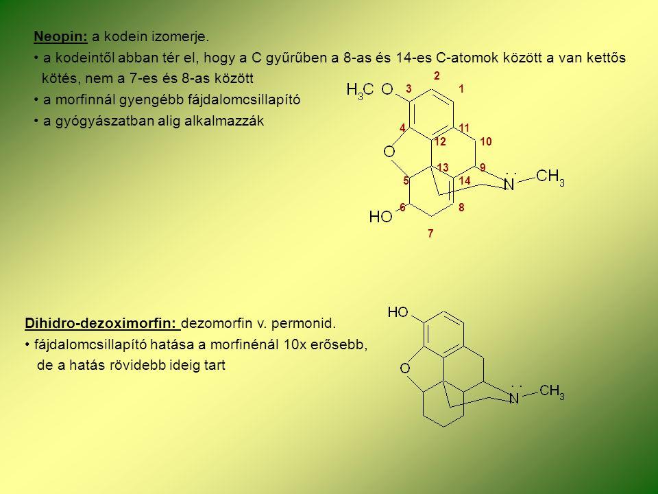 Neopin: a kodein izomerje.