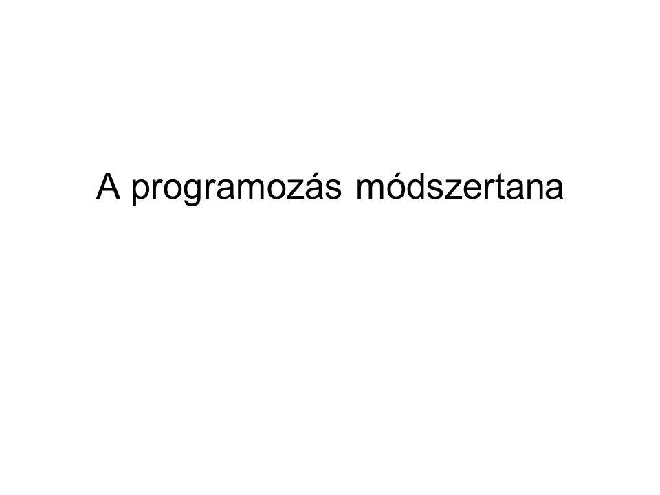 A programozás módszertana