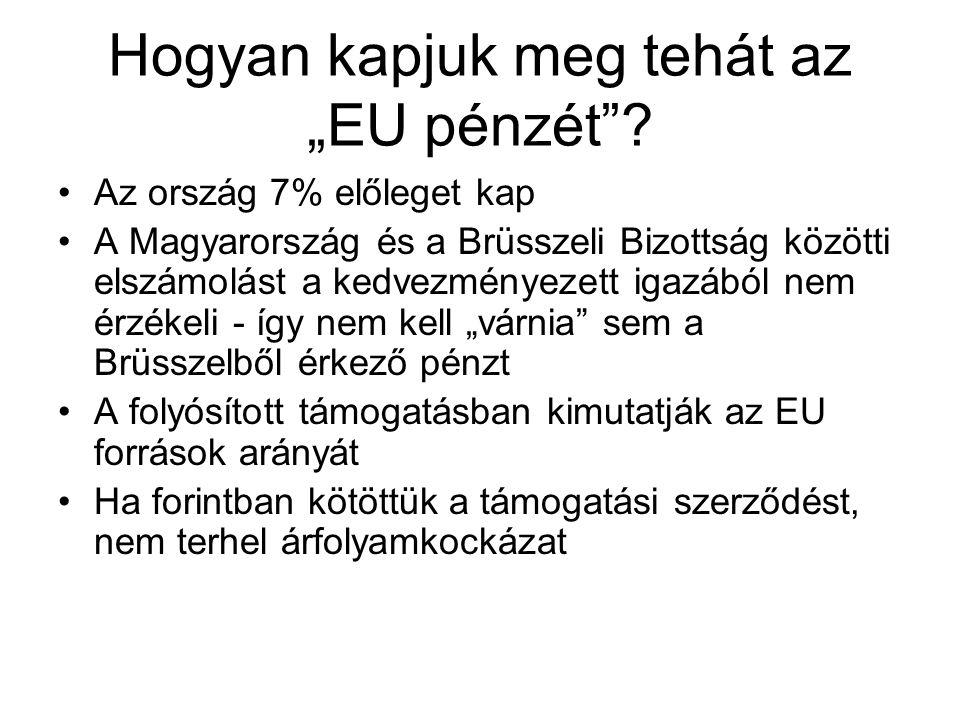"""Hogyan kapjuk meg tehát az """"EU pénzét ."""