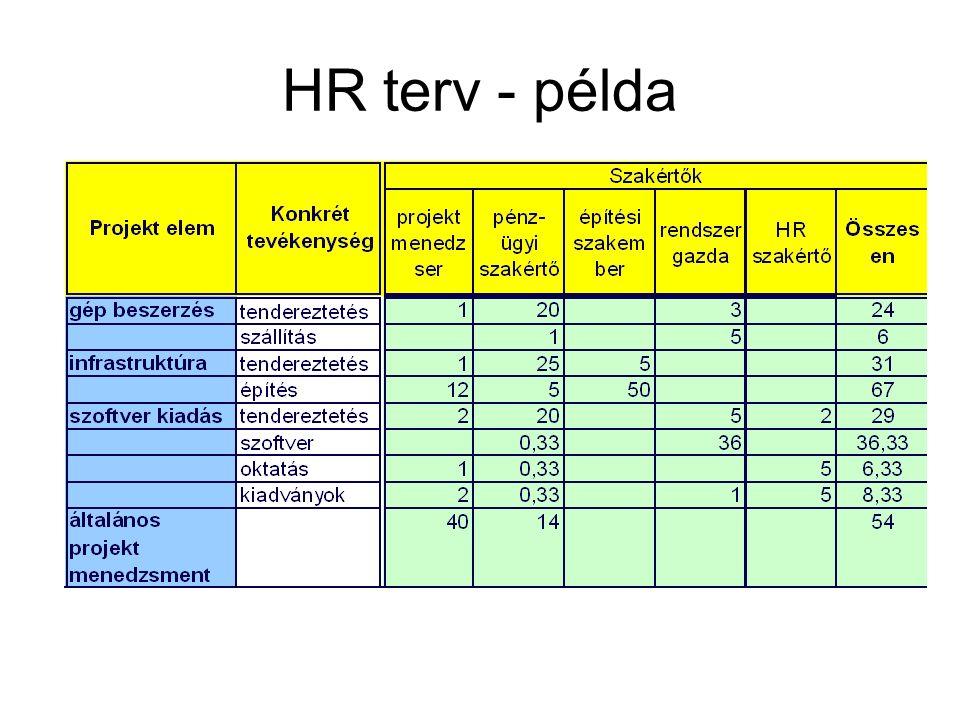 HR terv - példa
