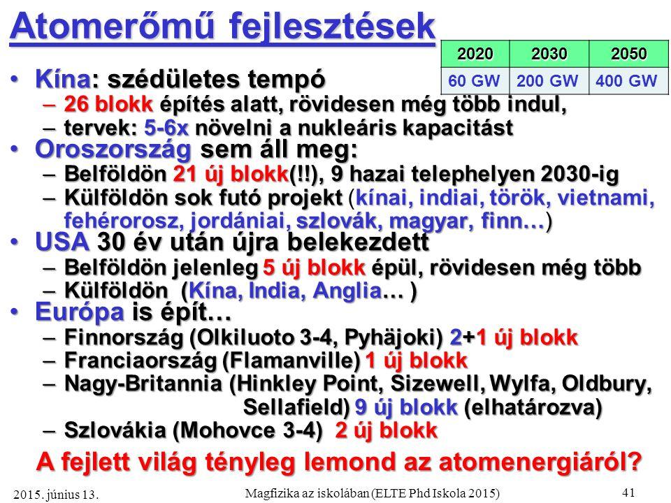 41 Magfizika az iskolában (ELTE Phd Iskola 2015) 2015.