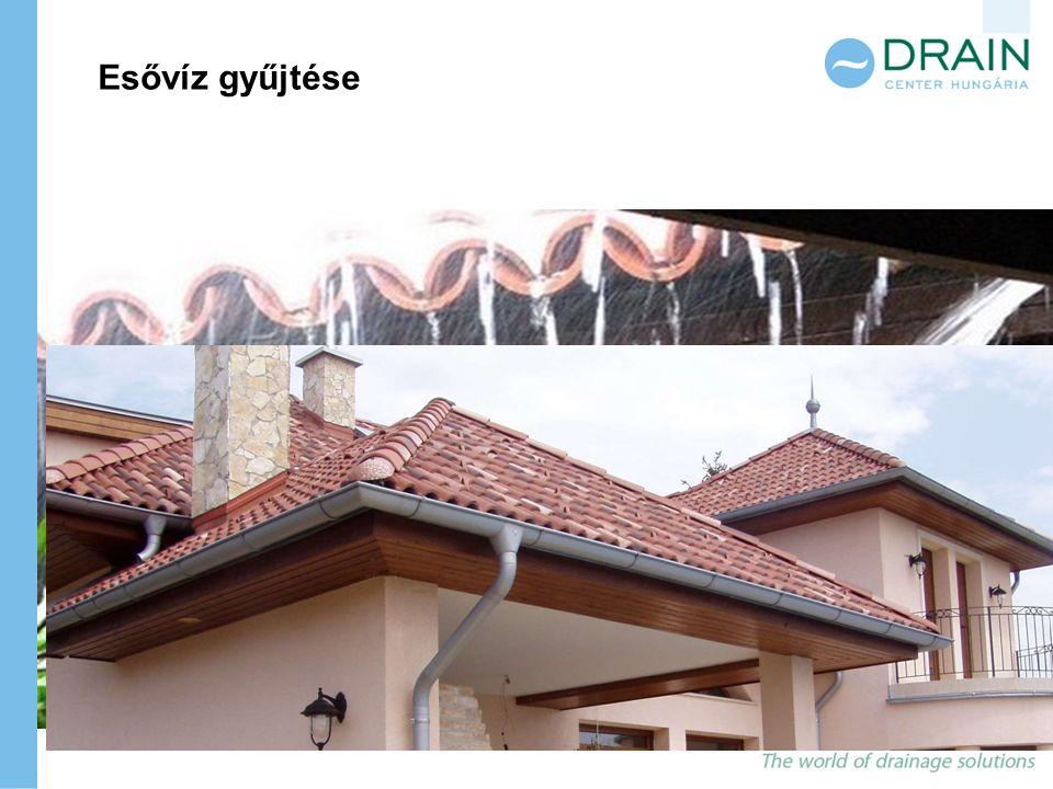 Különösen alkalmasak azok a lejtős tetőfelületek (0,8-0,9 közötti lefolyási tényezővel), melyeknek cserép, pala vagy beton a borításuk.