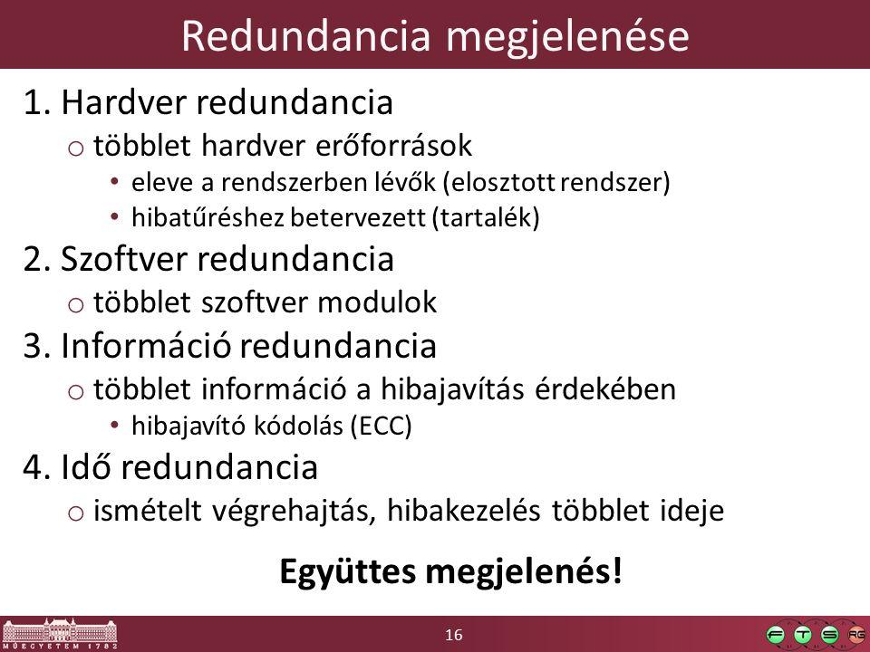 16 Redundancia megjelenése 1.