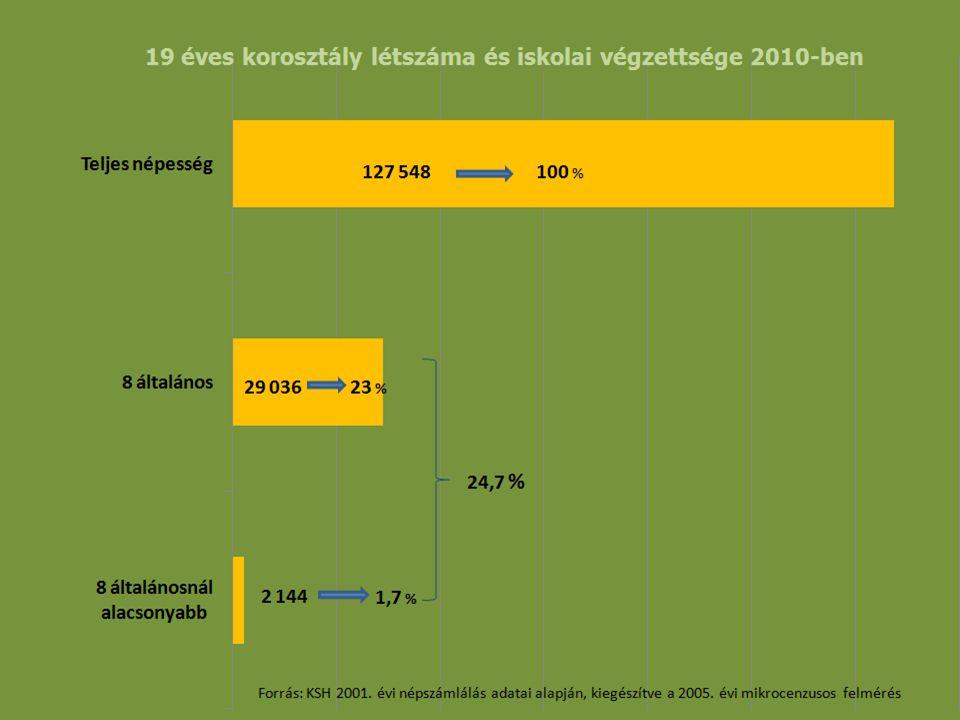 Lemorzsolódás és szakmaelhagyás figyelembe vétele egy képzeletbeli eset Beiskolázott tanulók:100 fő Lemorzsolódás: 30 fő Szakiskolát elvégzők: 70 fő Szakmájukban 9 hónap múlva elhelyezkedők: 21 fő MKIK GVI felmérés alapján 2010.