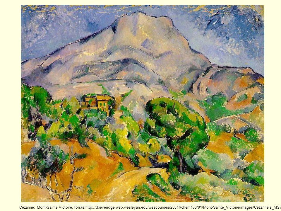 Cezanne: Mont-Sainte Victoire, forrás:http://dbeveridge.web.wesleyan.edu/wescourses/2001f/chem160/01/Mont-Sainte_Victoire/images/Cezanne s_MSV,_1900.jpg