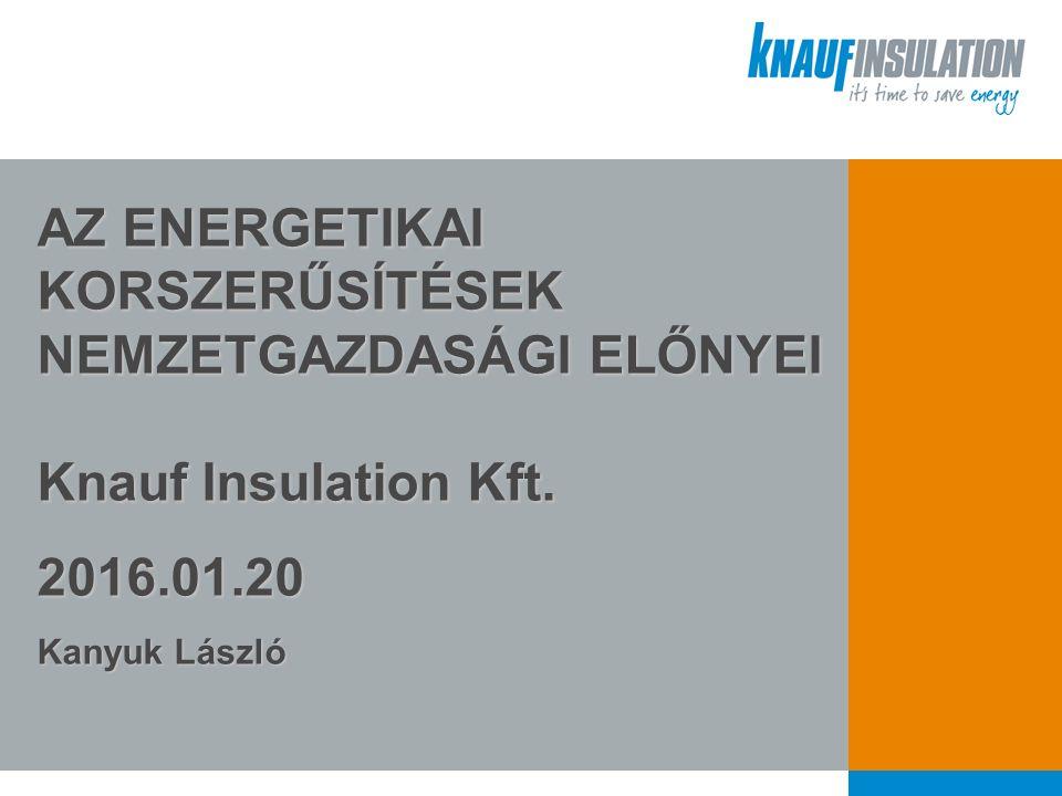 AZ ENERGETIKAI KORSZERŰSÍTÉSEK NEMZETGAZDASÁGI ELŐNYEI Knauf Insulation Kft.
