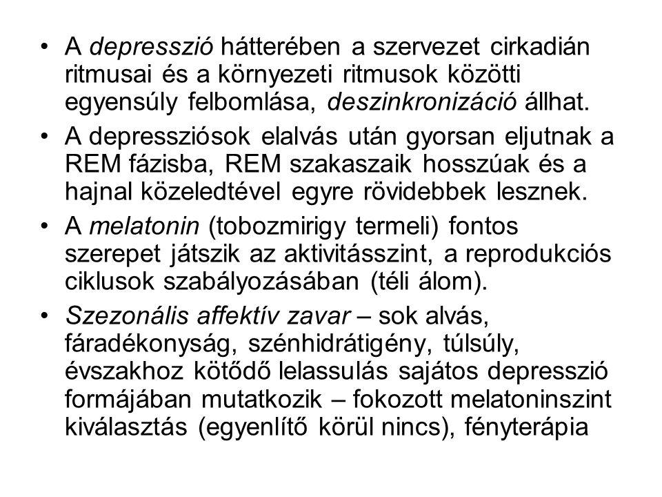 A depresszió hátterében a szervezet cirkadián ritmusai és a környezeti ritmusok közötti egyensúly felbomlása, deszinkronizáció állhat. A depressziósok