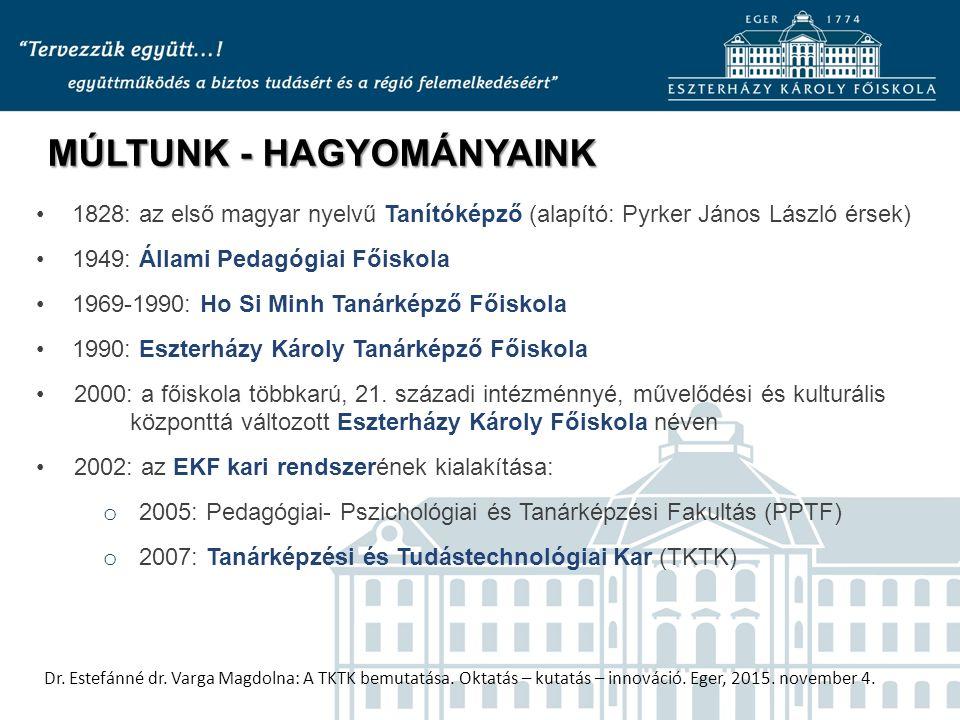 Dr. Estefánné dr. Varga Magdolna: A TKTK bemutatása.