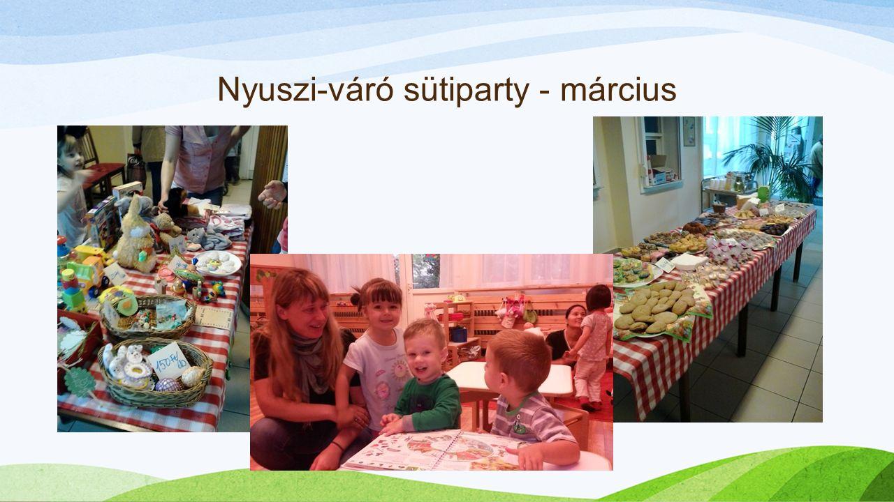 Nyuszi-váró sütiparty - március
