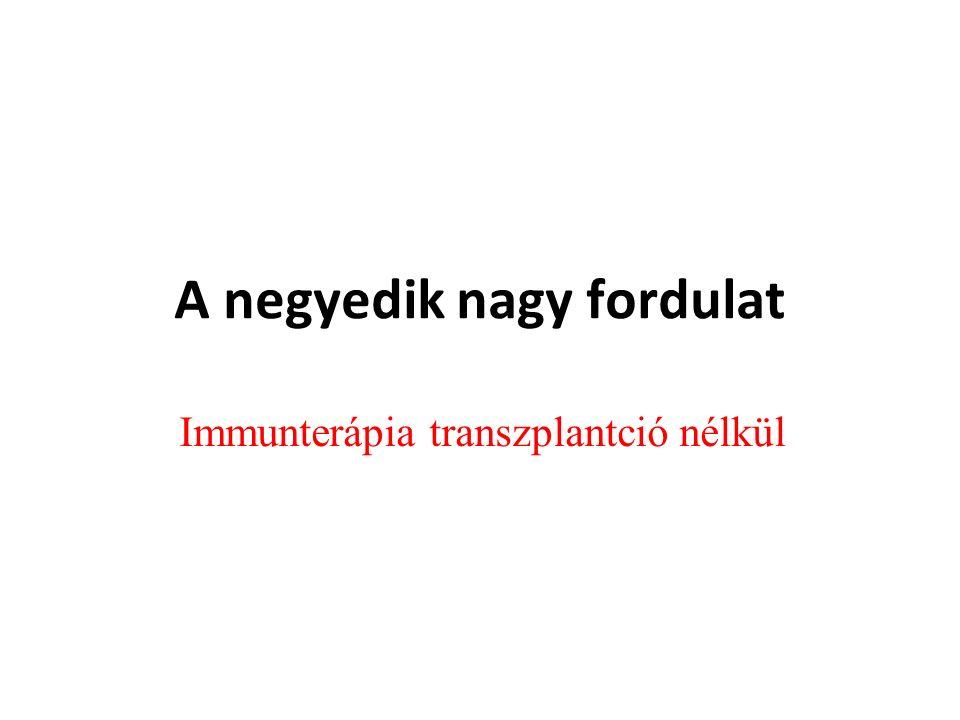 A negyedik nagy fordulat Immunterápia transzplantció nélkül