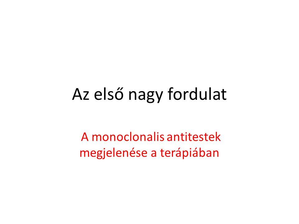 Az első nagy fordulat A monoclonalis antitestek megjelenése a terápiában