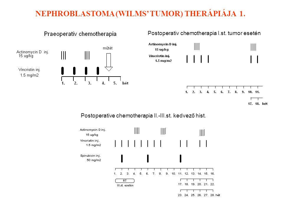 Postoperative chemotherapia II.-III.st. kedvező hist.
