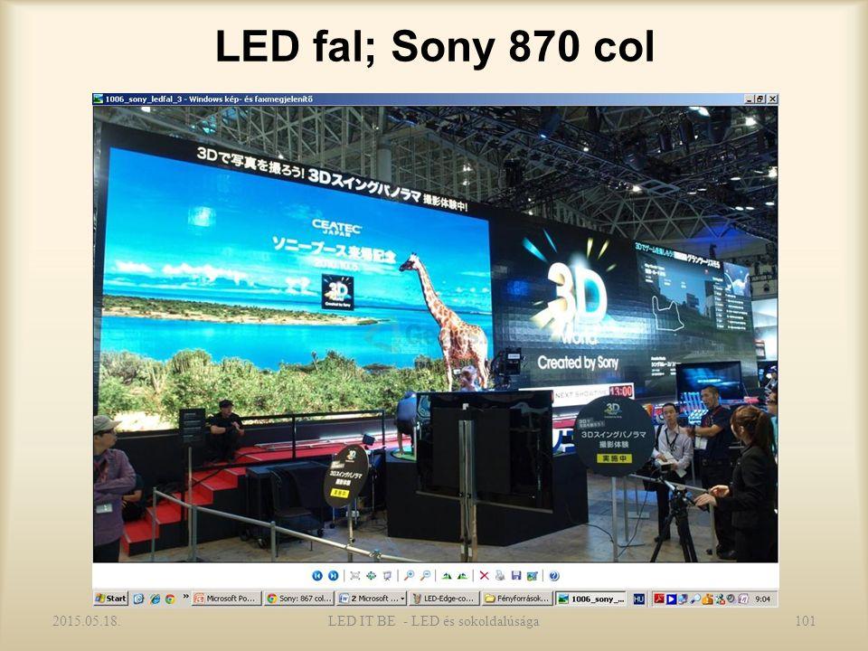 LED fal; Sony 870 col 2015.05.18.LED IT BE - LED és sokoldalúsága101