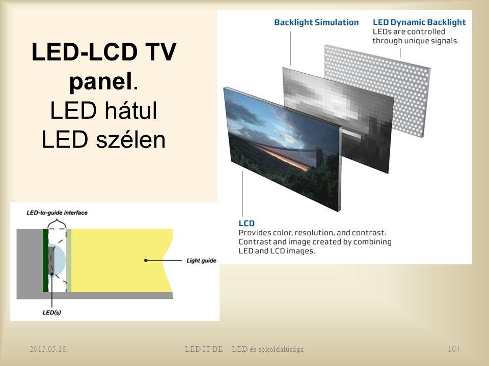 LED-LCD TV panel. LED hátul LED szélen 2015.05.18.LED IT BE - LED és sokoldalúsága104