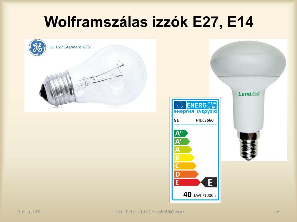 Wolframszálas izzók E27, E14 2015.05.18.LED IT BE - LED és sokoldalúsága26