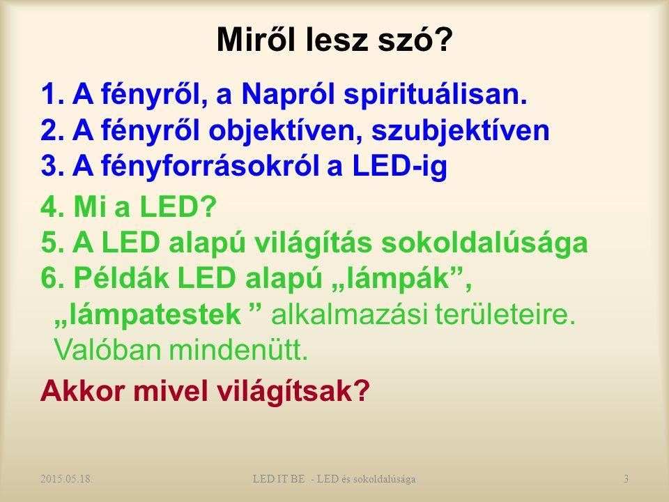 Miről lesz szó. 1. A fényről, a Napról spirituálisan.
