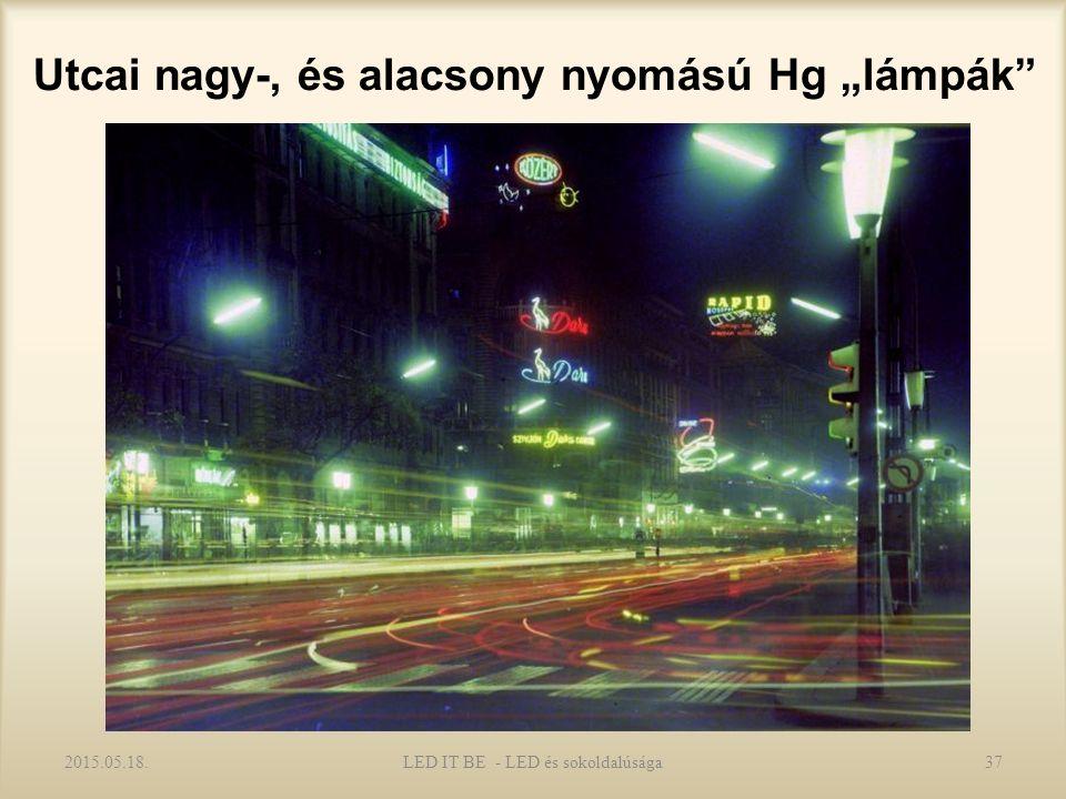 """Utcai nagy-, és alacsony nyomású Hg """"lámpák 2015.05.18.LED IT BE - LED és sokoldalúsága37"""