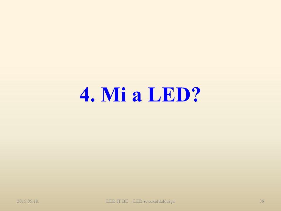 4. Mi a LED? 2015.05.18.39LED IT BE - LED és sokoldalúsága