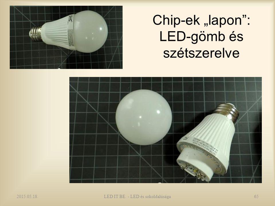 """Chip-ek """"lapon : LED-gömb és szétszerelve 2015.05.18.LED IT BE - LED és sokoldalúsága65"""