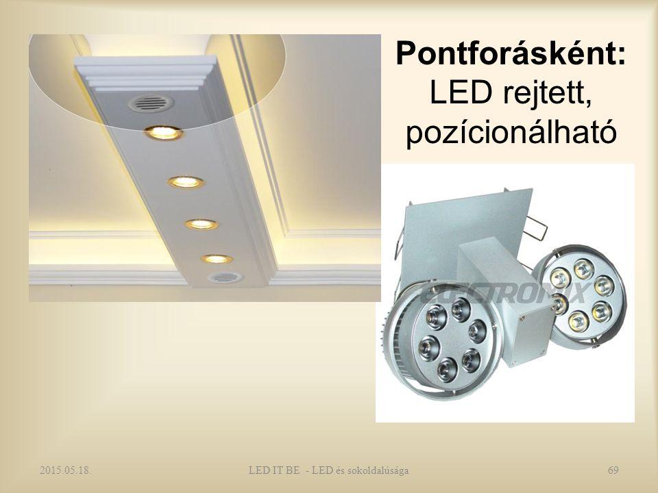 Pontforásként: LED rejtett, pozícionálható 2015.05.18.LED IT BE - LED és sokoldalúsága69