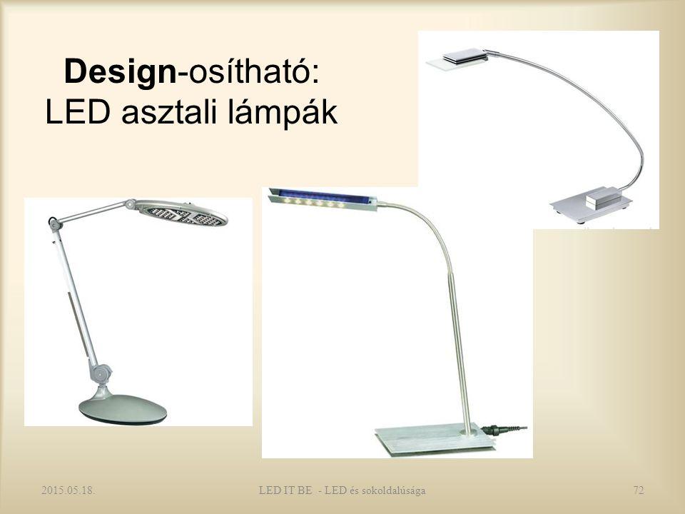 Design-osítható: LED asztali lámpák 2015.05.18.72LED IT BE - LED és sokoldalúsága