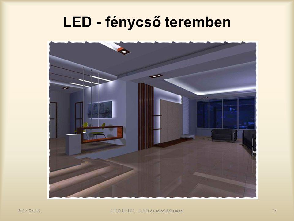 LED - fénycső teremben 2015.05.18.75LED IT BE - LED és sokoldalúsága