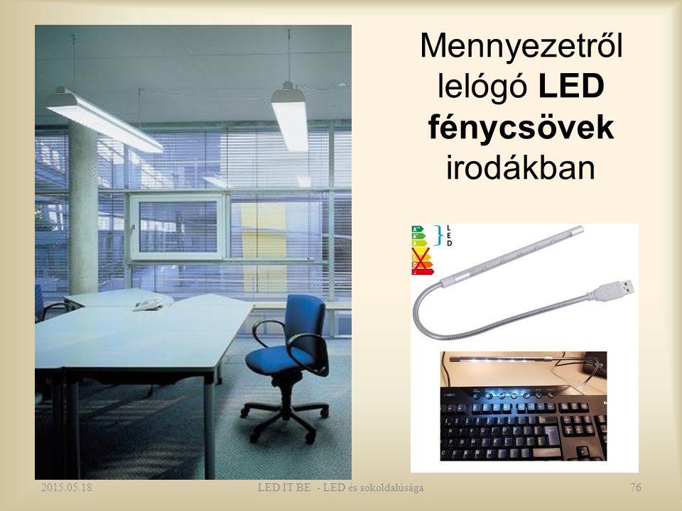Mennyezetről lelógó LED fénycsövek irodákban 2015.05.18.76LED IT BE - LED és sokoldalúsága