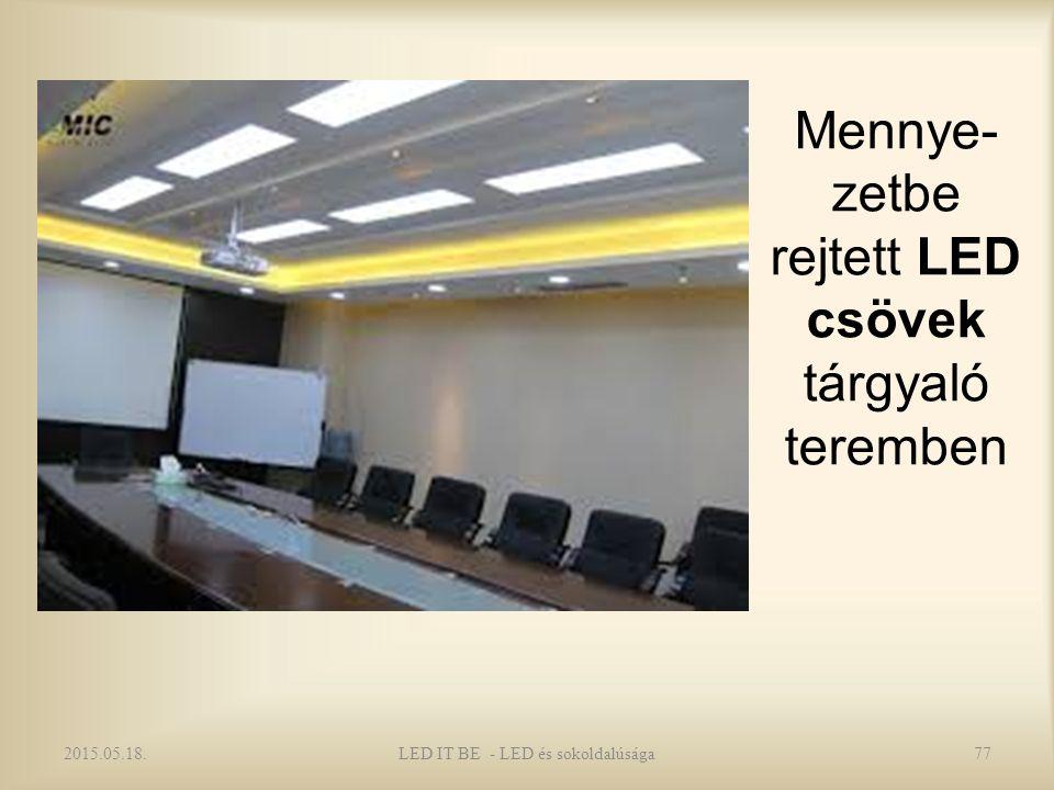 Mennye- zetbe rejtett LED csövek tárgyaló teremben 2015.05.18.77LED IT BE - LED és sokoldalúsága