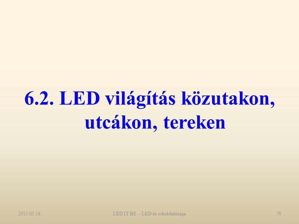 6.2. LED világítás közutakon, utcákon, tereken 2015.05.18.78LED IT BE - LED és sokoldalúsága