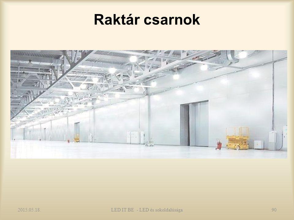 Raktár csarnok 2015.05.18.90LED IT BE - LED és sokoldalúsága