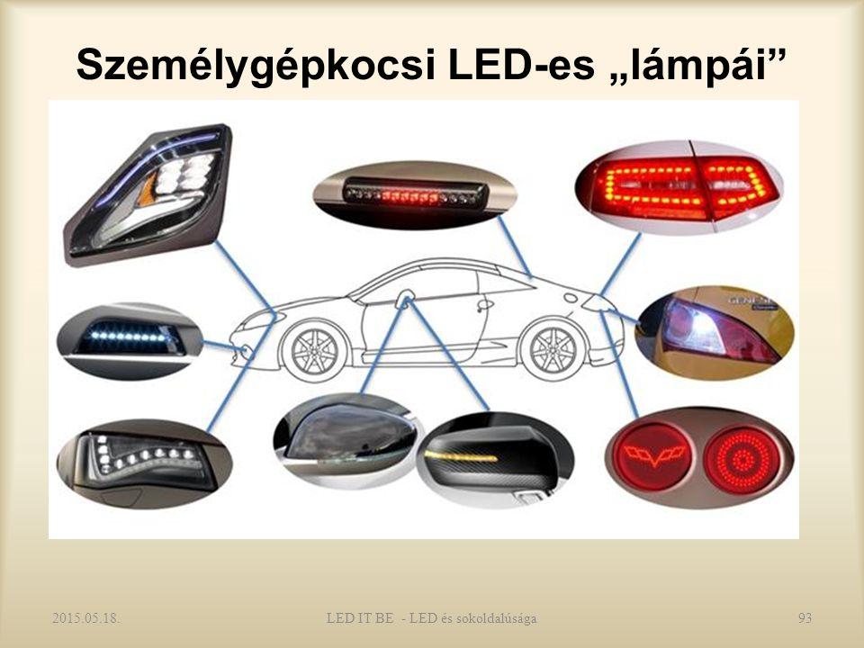 """Személygépkocsi LED-es """"lámpái 2015.05.18.LED IT BE - LED és sokoldalúsága93"""