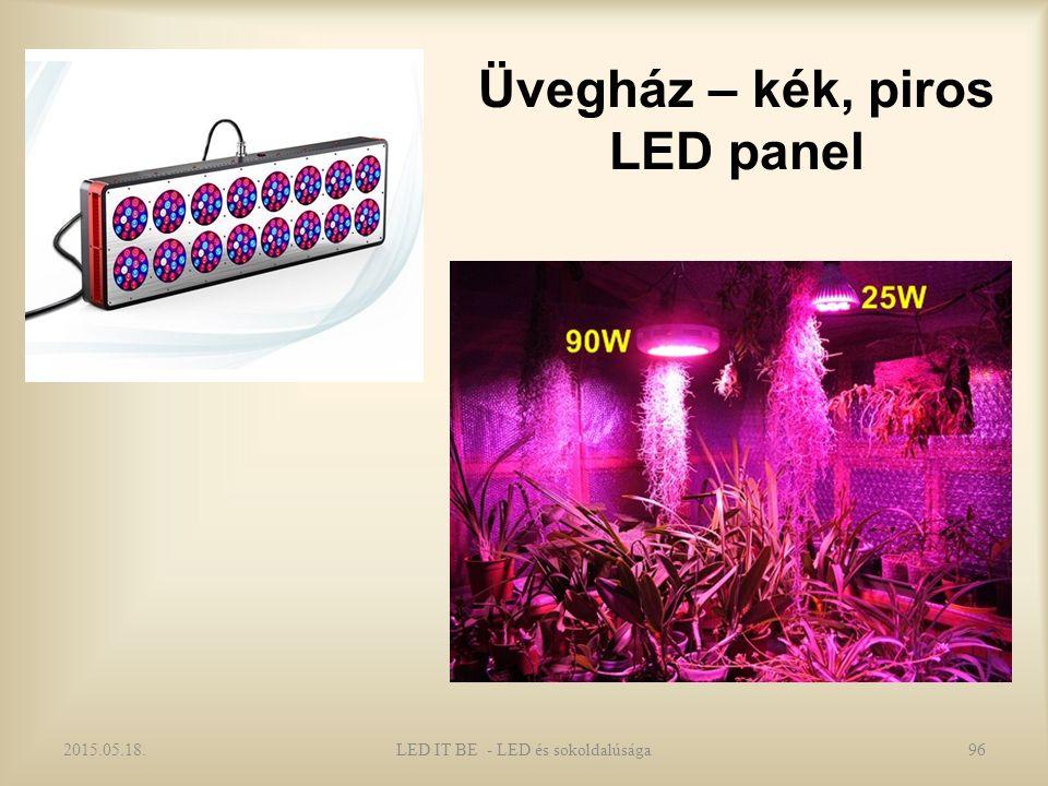 Üvegház – kék, piros LED panel 2015.05.18.LED IT BE - LED és sokoldalúsága96