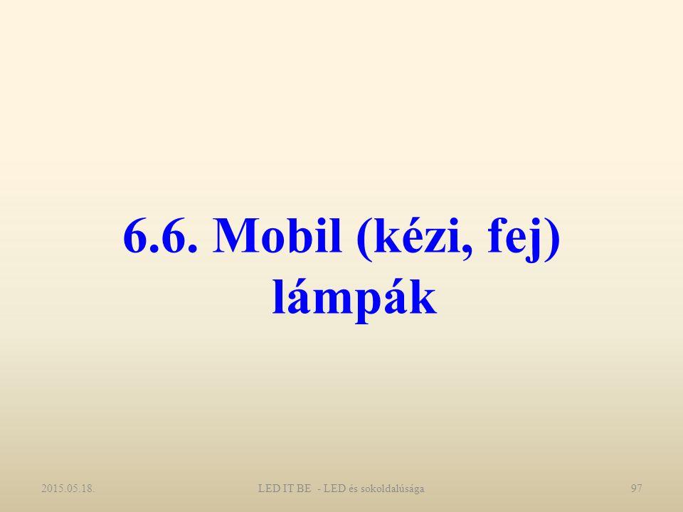 6.6. Mobil (kézi, fej) lámpák 2015.05.18.LED IT BE - LED és sokoldalúsága97