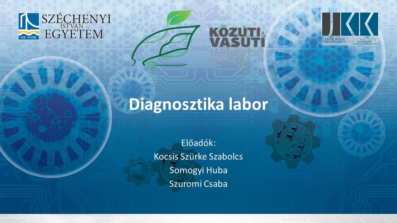 Diagnosztika labor Előadók: Kocsis Szürke Szabolcs Somogyi Huba Szuromi Csaba