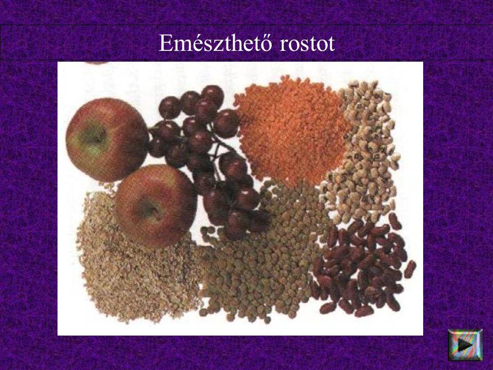Emészthetetlen rostot tartalmaznak a diófélék, a korpa, a rizs és a gyümölcsök héja.