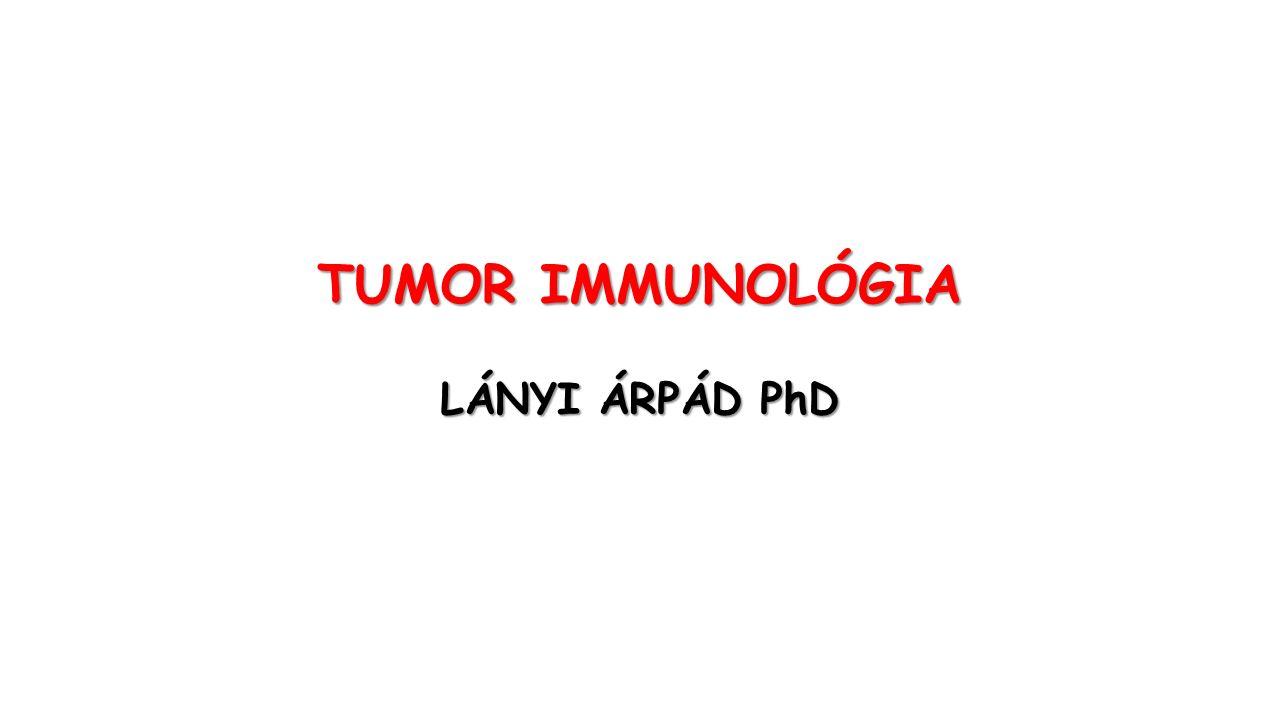 TÖBB, MINT 100 TUMOR TÍPUS LÉTEZIK A legtöbb tumor csak idősebb korban alakul ki, ami a tumorképződést kontrolláló mechanizmusok létére utal.